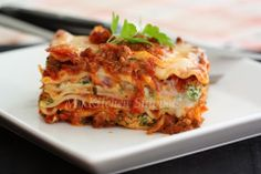 My Kitchen Snippets: Beef and Spinach Lasagna