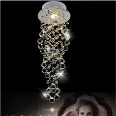 71.43$  Buy now - http://ali5du.worldwells.pw/go.php?t=32685447022 - Free shipping New Modern luxury K9 spiral Crystal Lamp Crystal pendant light, AC 100% Guaranteed D200/D300/D400mm For Selection  71.43$