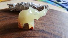 Pakistani Onyx Elephant ~ One Reiki Infused gemstone elephant approx 2 inches (ELE22)