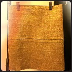 Gold Bandage Skirt This gold bandage skirt is very slimming and chic for the fall. Desprately Famous Skirts Mini