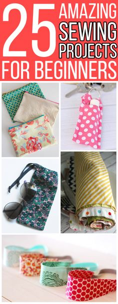 Check out these 25 sewing projects for beginners! These easy, step by step sewing tutorials are great for newbies who are learning to sew, kids and teens, and more experienced seamstresses looking for simpler projects. Included are clothes, home decor items, accessories, bags, and a lot more! #sewing #sewingtutorial #sewingprojects #DIY #crafts