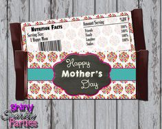 Printable MOTHER'S DAY Candy Bar WRAPS - Diy Mother's Day Gift Ideas - Mother's Day Candy Bar Wrappers -  Mother's Day Instant Download