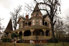 Valdosta GA Fairview Historic District Victorian Landmark Architecture House Picture Image Photo Copyright Brian Brown Photographer Vanishing South Georgia USA 2011