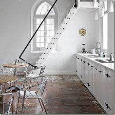 Barn like kitchen joinery doors