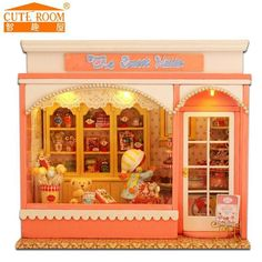 DIY Doll House Wooden Doll Houses Miniature dollhouse Furniture Kit Room LED Lights Cute Room DIY
