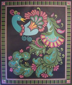 Paisley Peacock Floor Cloth By SamanthaCreations On Etsy, $800.00