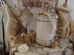 Dream in Cream: ~ Magical Bed Spring Wreath....~