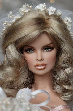 not sure if it's a real Barbie, but i thought it was pretty.
