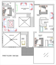 Free House Plans, House Floor Plans, Beautiful House Plans, Bungalow House Design, Floor Layout, Home Theater Rooms, Home Design Plans, Rustic Elegance, Architecture Design