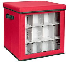When it's time to take out those treasured ornaments and trim the tree, you'll be glad you neatly tucked them away in this festive ornament storage cube. It's got room for up to 48 ornaments, so you'll be sipping eggnog in no time. From Honey-Can-Do. Cube Organizer, Cube Storage, Diy Storage, Locker Storage, Home Organization Hacks, Organizing Your Home, Ornament Storage, Ornament Drawing, Holiday Ornaments