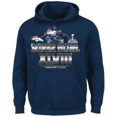 "Denver Broncos Majestic Super Bowl XLVIII ""On Our Way"" Hooded Sweatshirt"