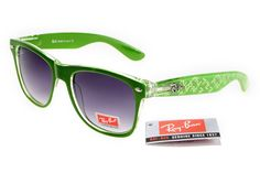 Ray-Ban zx300 Deep Green Pattern Frame Gray Lens RB1345