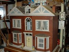 Bonhams Fine Art Auctioneers & Valuers: auctioneers of art, pictures, collectables and motor cars Antique Dollhouse, Wooden Dollhouse, Antique Dolls, Large Wooden Dolls House, Four Rooms, Red Bricks, Old And New, Facade, Restoration