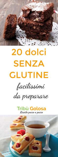 20 dolci SENZA GLUTINE facilissimi da preprarare When you are gluten intolerant there are many foods that you have to put aside, but this does not mean that there is nothing more to do. Gluten Free Bagels, Gluten Free Oatmeal, Gluten Free Sweets, Gluten Free Recipes, Sem Lactose, Lactose Free, Dairy Free, Sin Gluten, Gluten Free Cheesecake