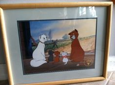 DISNEY'S THE ARTISTOCATS 1996 FRAMED EXCLUSIVE COMMEMORATIVE LITHOGRAPH & VIDEO