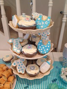My baby shower homemade cupcakes and biscuits.