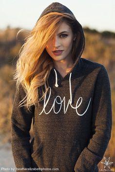 LOVE Hoodie Sweatshirt Alternative Apparel Kangaroo by LittleAtoms