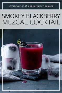 Smokey Blackberry Mezcal Cocktail - Jennifer Meyering