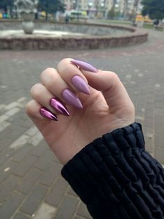 Top 33 Classic Mauve Nail Art Creative Mauve Nail Designs to Inspire You Trends 2018 Mauve nail is one in all the foremost uncommon and exquisite shades that ar extremely standard recently. there's no surprise why since mauve shade cons Mauve Nails, Yellow Nails, Purple Nails, Hair And Nails, My Nails, Grunge Nails, Fire Nails, Manicure E Pedicure, Best Acrylic Nails