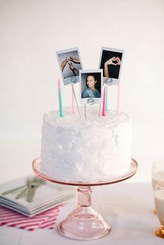 DIY Polaroid Cake Topper
