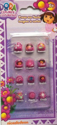 Dora the Explorer Press-on Nails - 12 Pieces By Nickelodeon >>> Check out the image by visiting the link.