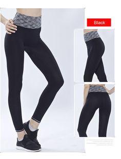 1275a430b68cf Women Sports Elastic Yoga Pants   High Waist Bodybuilding Fitness Leggings    Tights Running Training Pants