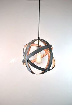 Small Wine Barrel Ring Hanging Lantern by winecountrycraftsman