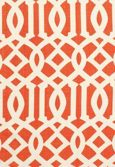 Fabric | Imperial Trellis II in Ivory / Mandarin | Schumacher