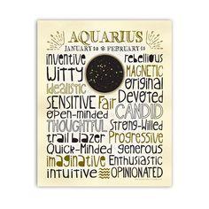 Astrology Art Print Aquarius Constellation por AnneGarrisonStudio