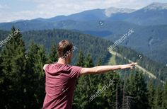 Recreation in the mountains. https://www.shutterstock.com/image-photo/recreation-mountains-young-man-enjoys-view-585362819?src=Y69ByWIemGci0r3Jh4UV3g-1-0 #shutterstock #mountains #tourist #tourism #recreation #travel #resort #holiday #summer