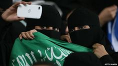 "Saudi female football fans taking a selfie --- Here you will Learn how to use some of comments by some ignorant ""idiots""  to make a Fuss out or nothing."
