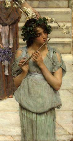 "Lawrence Alma-Tadema ""Spring"" (detail) 1894"