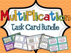 Multiplication Task Card Bundle *228 Differentiated Multiplication Task Cards* Word Problems, Arrays, Factors and Multiples, Multiplication or Division?, Equal Groups, and more!$