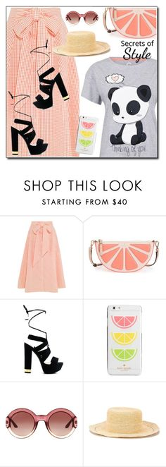 """Midi skirt"" by anne-irene ❤ liked on Polyvore featuring Lisa Marie Fernandez, Kate Spade, N.Y.L.A., Gucci, Comme des Garçons and midiskirt"