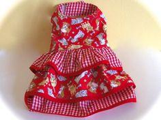 dog dress small dog dress pet dress ruffles by CreationsAnneClaude