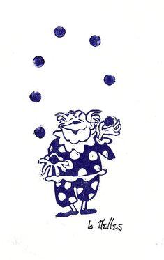 Juggling Clown    Artist:    Barry Nelles Art