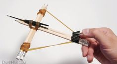 How to Make Office Supplies Crossbow - just in case you have NOTHING better to do.