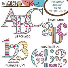 AV Garde Black Uppercase Alphabet StickersNew by: CC