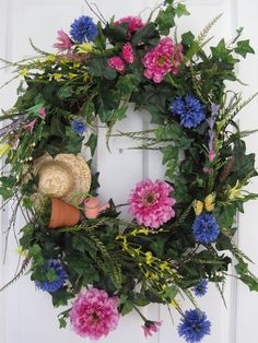 COUNTRY GARDEN WREATH by funflorals on Etsy