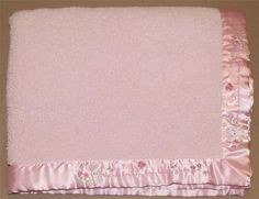 Carters Child Of Mine Pink Thank Heaven Little Girl Baby Blanket Bunny Butterfly #Carters