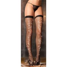 Sparkle Diamond Net Thigh High $9.95 but You can get this or almost any other single item for 50% OFF + Free Shipping + DVDS and Mystery GIFT when you use the code PINIT @ checkout at www.AdamAndEve.com.