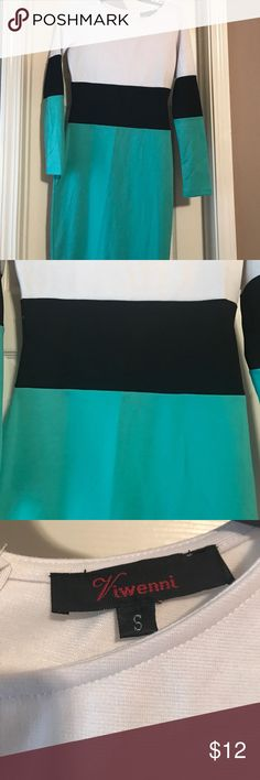color block dress Gently worn Green/Black/White color blocked dress size S. 3 or more bundled items 15% discount and open to offers.  💨 free 🐶 free 🏡!! viwenni Dresses Midi