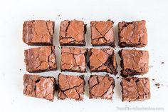 Le brownie découpé