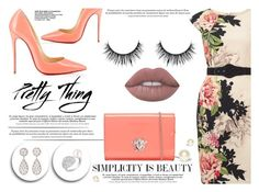 """""""Pretty Thing"""" by yurisnazalieth ❤ liked on Polyvore featuring Phase Eight, Christian Louboutin, Versace, Buccellati, Chanel and Lime Crime"""
