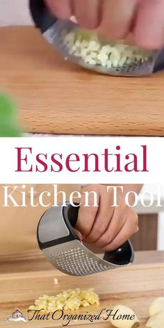 The new and improved garlic press is the perfect tool for mincing garlic,for incredible flavor in every dish you prepare!    #kitchenaccessories #kitchengadgets #kitchentools #thatorganizedhome Electric Skillet Recipes, Essential Kitchen Tools, Kitchen Pantry Design, Kitchen Must Haves, Cast Iron Recipes, Rustic Wall Clocks, Thing 1, Soft Foods, Cast Iron Cooking