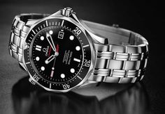 Omega Seamaster 300 M, retail price €2,390    Omega 2500 Self-winding chronometer, Co-Axial Escapement movement with 48 hour power reserve. Water resistant to 1000 feet (300M). Stainless steel case with rotating bezel, screw-in crown and helium escape valve.