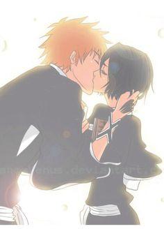 Ichiruki so beautiful I love the lights they just illuminate the whole kiss