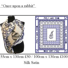 """""""Once upon a rabbit"""" Scarf. www.johannafleming.co.uk"""