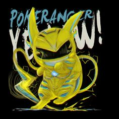 feb83395a Pokerangers Pokemon Power Rangers Riachu Yellow. Power Rangers T ShirtGo ...