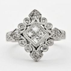 diamond filagree ring